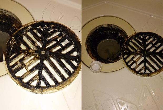浴室排水溝 before